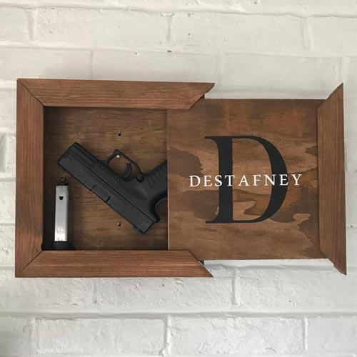 Wall Mounted Hidden Gun Gift Idea