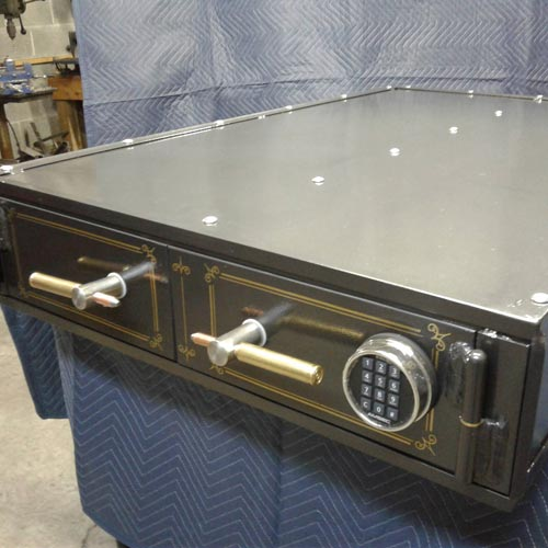 Creative Gun Safe with Minimal Wasted Space