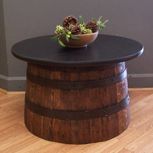 Coffee Tables Made From Oak Barrels