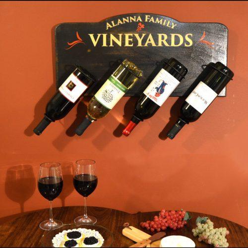 Wooden Wine Bottle Holder - Pharmacist Gift Idea