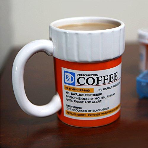 Pharmacist Gift Ideas: Coffee Mug Shaped Like a Prescription Bottle