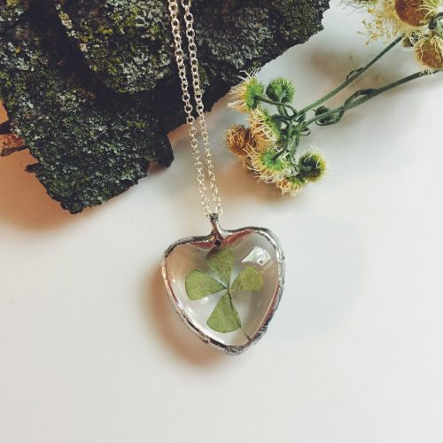 Handmade Saint Patrick's Day Jewelry - Shamrock Necklace