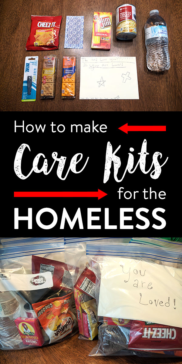 Ideas for making homeless care packages