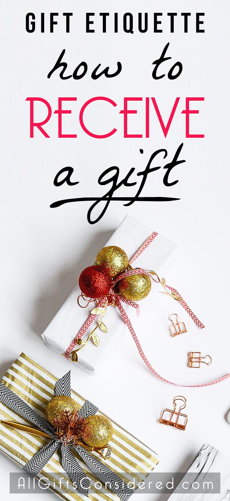 Gift etiquette for receiving a gift