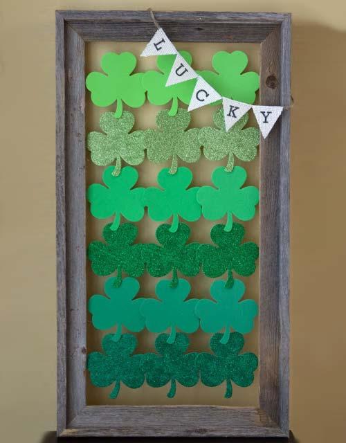 DIY St Patrick's Day Frame