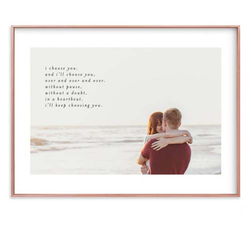 Anniversary Gift Idea: Personalized Framed Photo Art with Quote