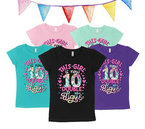 Shirts for Her 10th Birthday