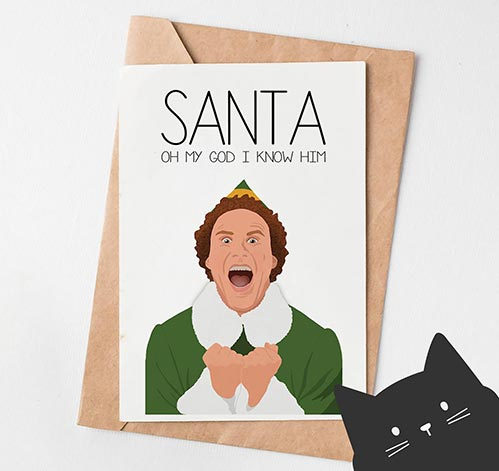 Elf Movie Christmas Card