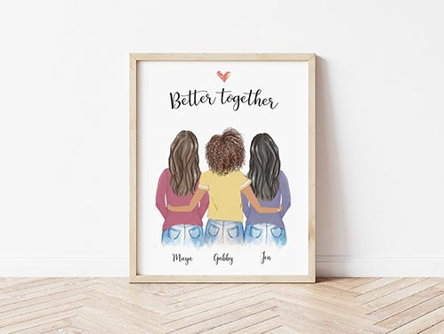 Better Together Friendship Wall Art
