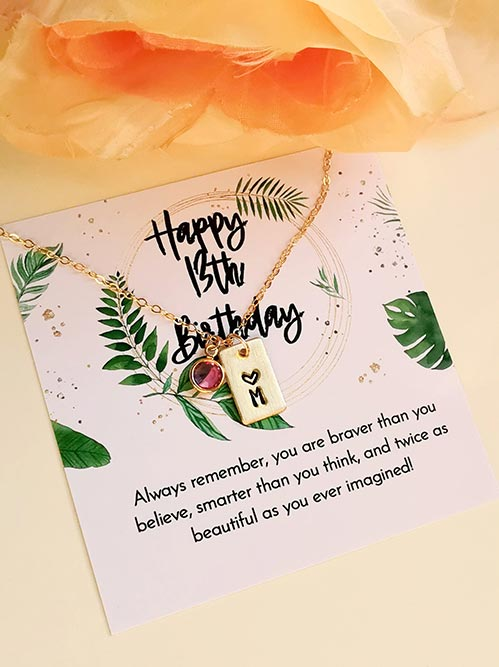 Happy 13th Birthday Necklace