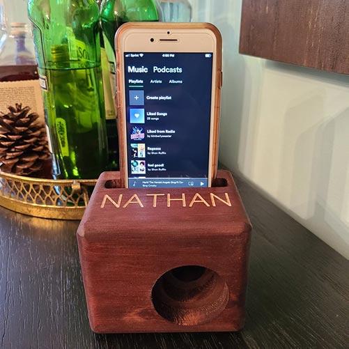 Engraved Phone Speakers