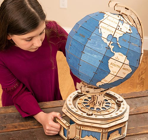 Wooden Globe Puzzle