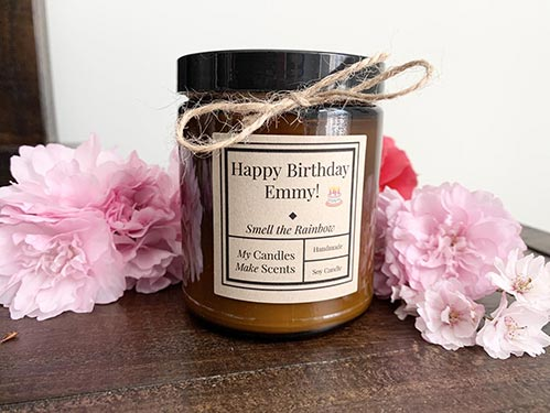 Happy Birthday - Personalized Soy Candle