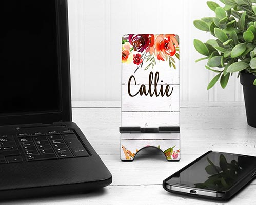 Personalized Flower Phone Stand