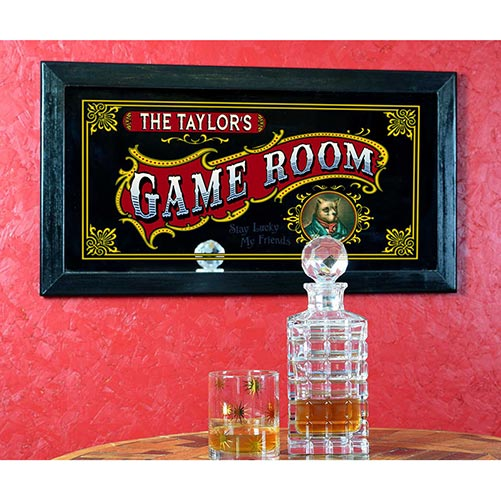 Personalized Game Room Sign