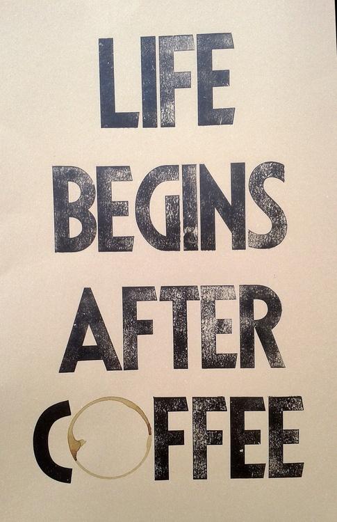 Coffee poster art / wall decor