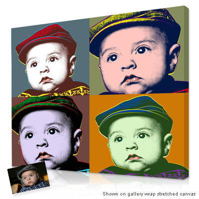 Personalized Andy Warhol Portrait Photo Gift
