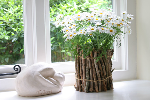 Woodsy Flower Pot Tutorial
