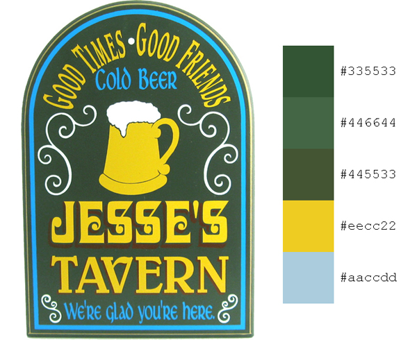 Tavern Sign Personalized