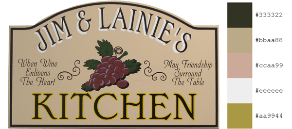 Personalized Kitchen Plaque