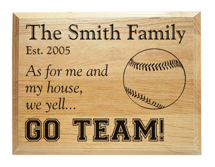Family name sports plaques