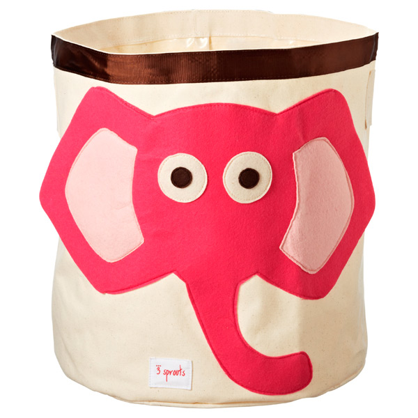 Canvas bin with adorable elephant