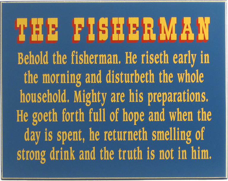 Behold the Fisherman Plaque