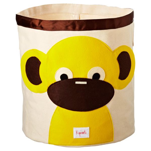 Monkey Canvas Tote Bin