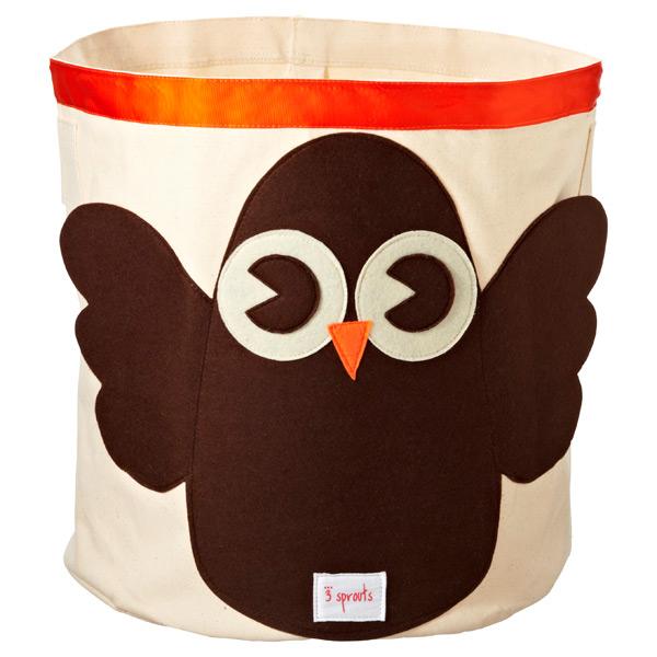 Owl Toy Bin