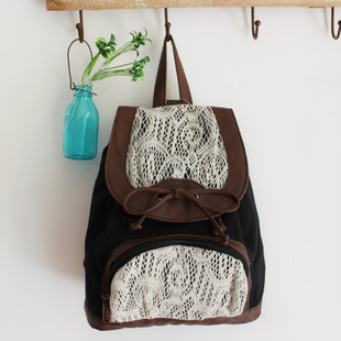 Lace accent backpack