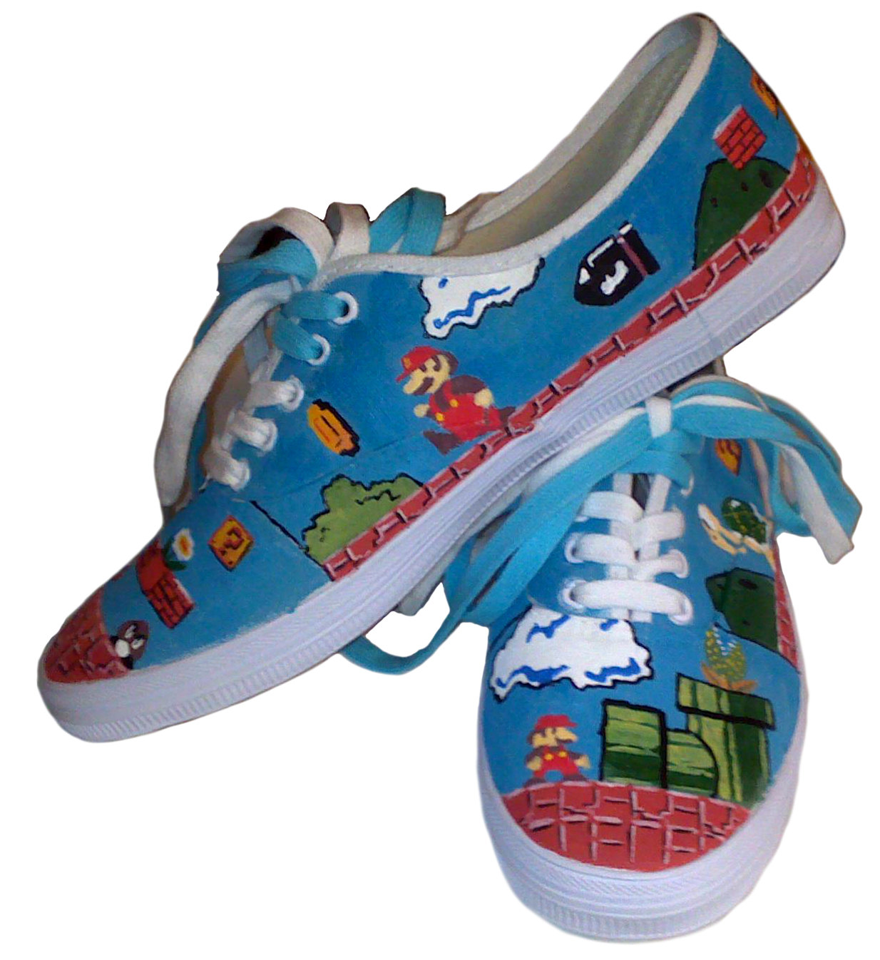 Hand Painted Super Mario Shoes