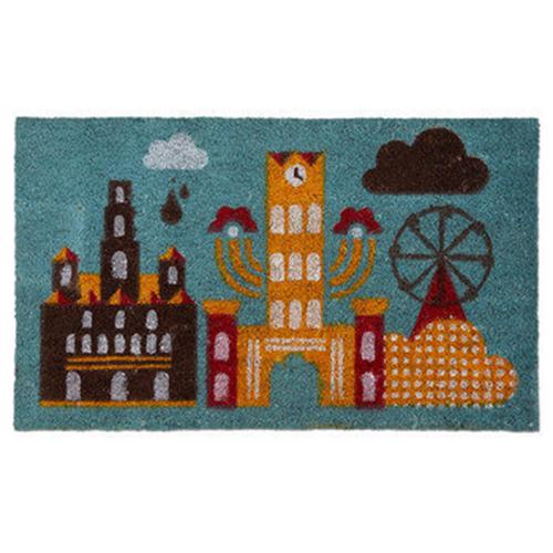 Cute City Scene Doormat