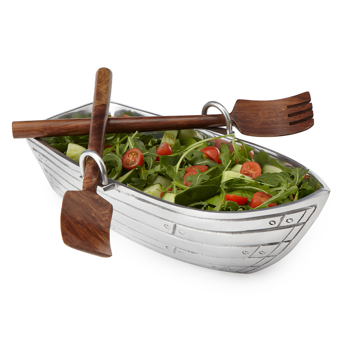 Rowboat Salad Bowl with Paddles