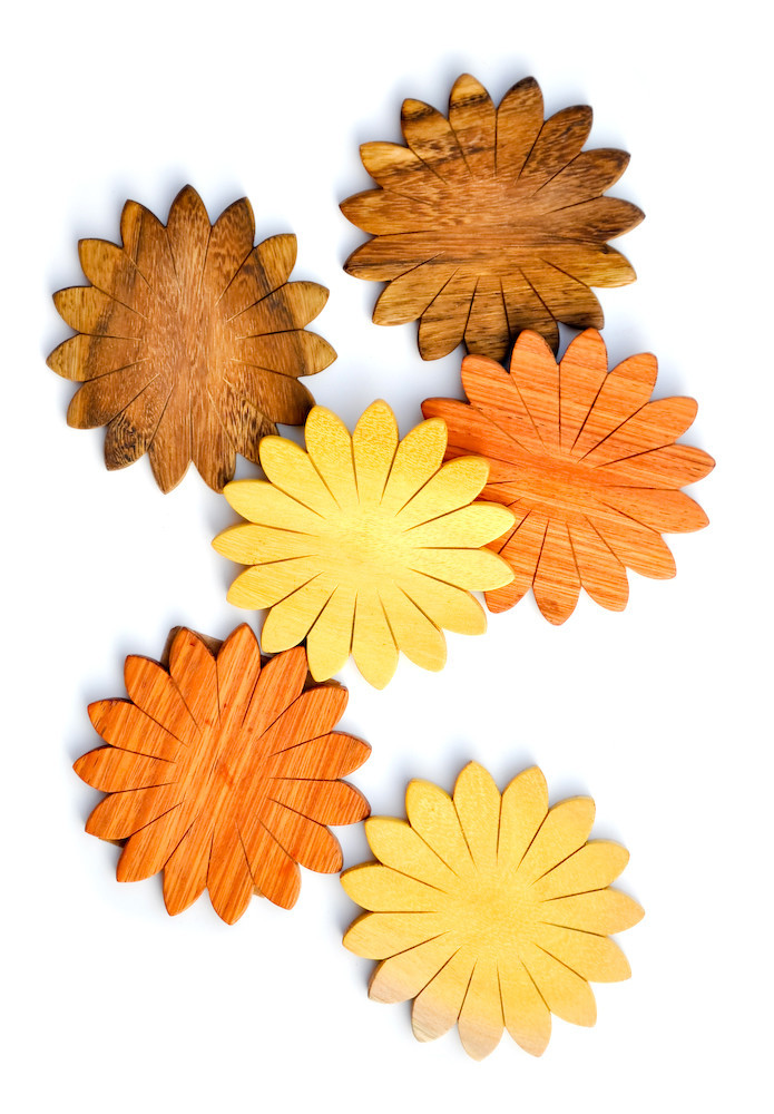 Fall Flower Coasters