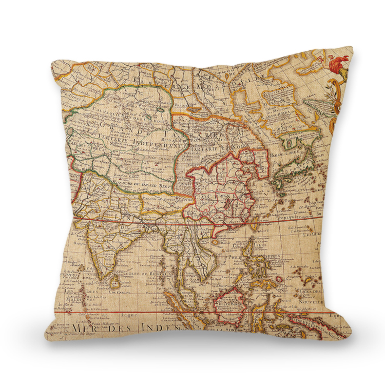 PIllow with old antique map