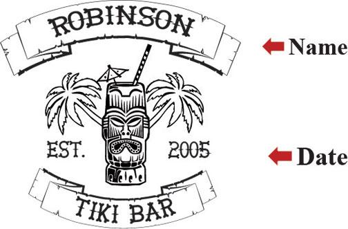 Tiki Bar Stencil
