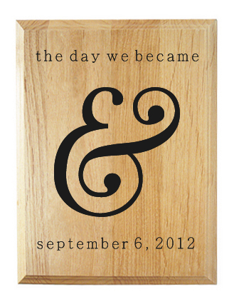 Ampersand Personalized Plaque