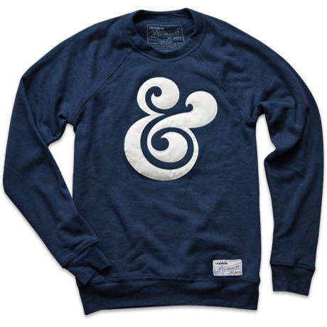 Typography sweater with Ampersand &