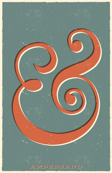 retro ampersand art