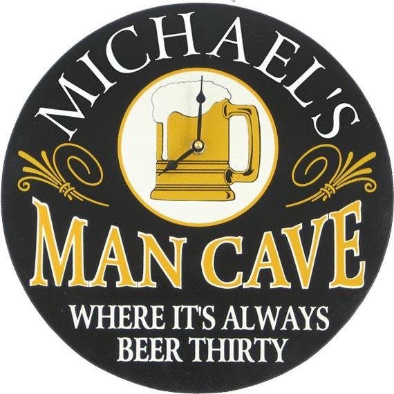 Man cave wall decor clock
