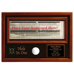 Hole in One Score Card Plaque