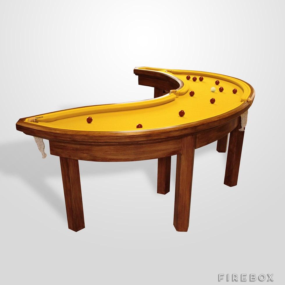 Giant Banana Billiards Table