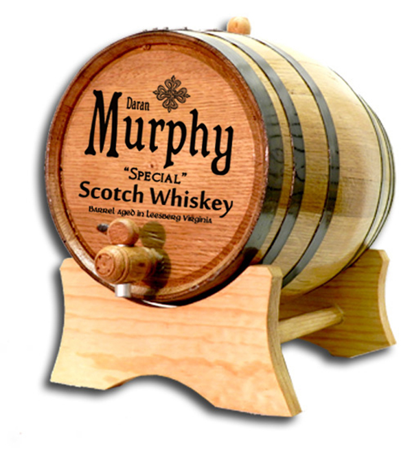 Scotch Whiskey Barrel Personalized