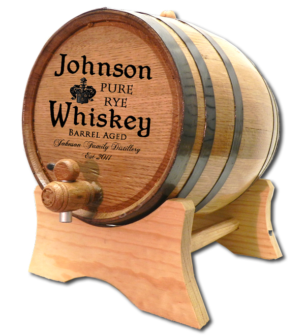 Custom Engraved Oak Barrels