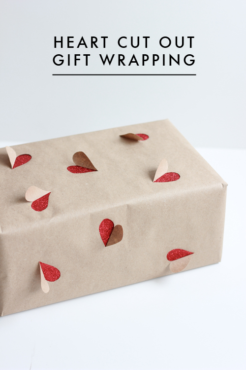 Paper Heart Valentine's Day Gift Wrap