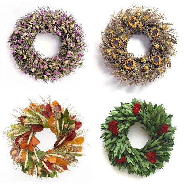 Organic Wreaths for All Year