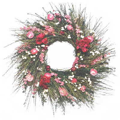 Organic Wreaths: Scotch Broom & Strawflowers - All Gifts Considered