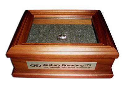 Golf Championship Ring Box Personalized