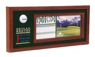 Personalized Embroidery Hole in One Golf Plaque