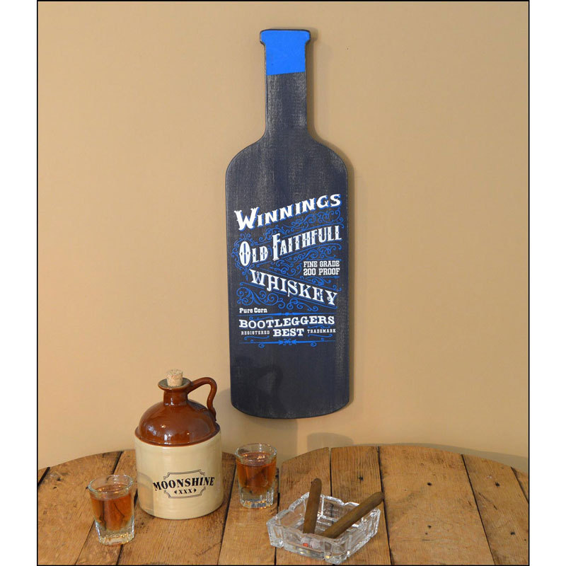 Bottle Shaped Plaques - Whiskey